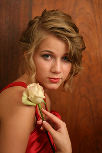 Senior pic with rose