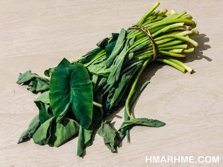 Dolzik, Young Taro Leaves, Fermented Fish, Ngathu Chialhme, Irritating Sensation