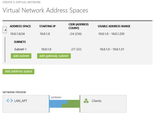 Creando la VPN - CIDR