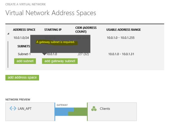 Creando la VPN - Error CIDR