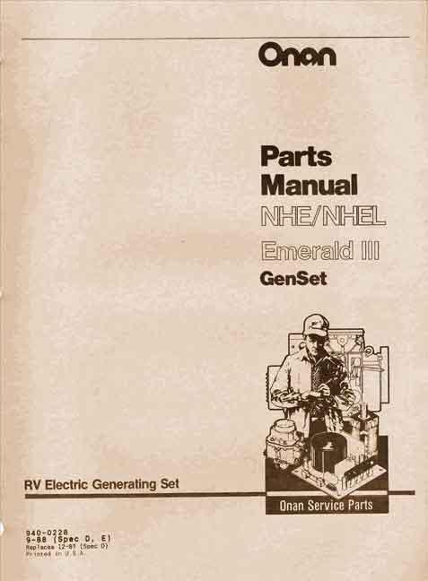 Parts Diagram Table Onan Generator Manual