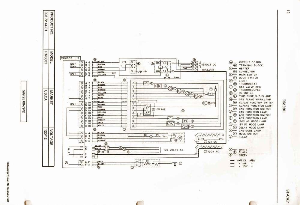 Dometic Rm2652 Wiring Schematic - john deere lx255 wiring