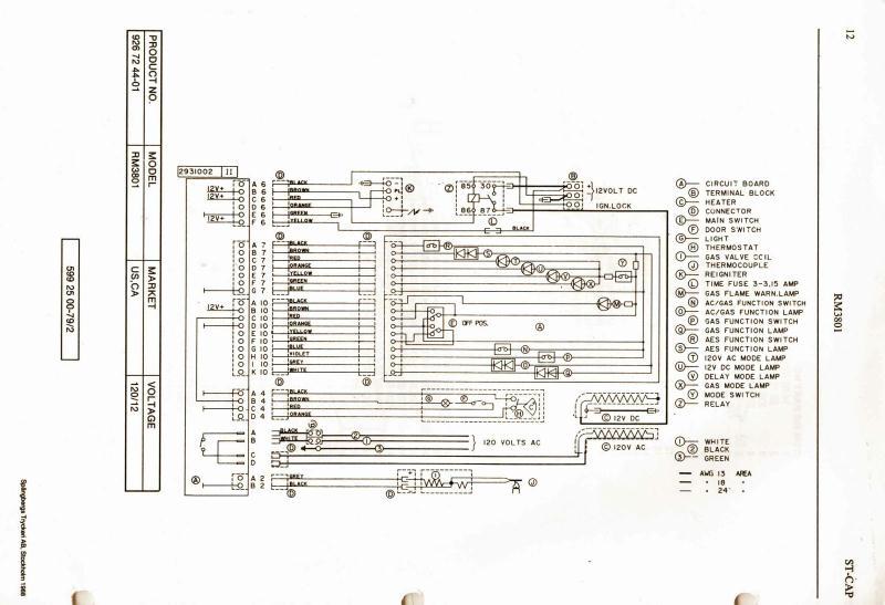 dometic refrigerator wiring diagram black box