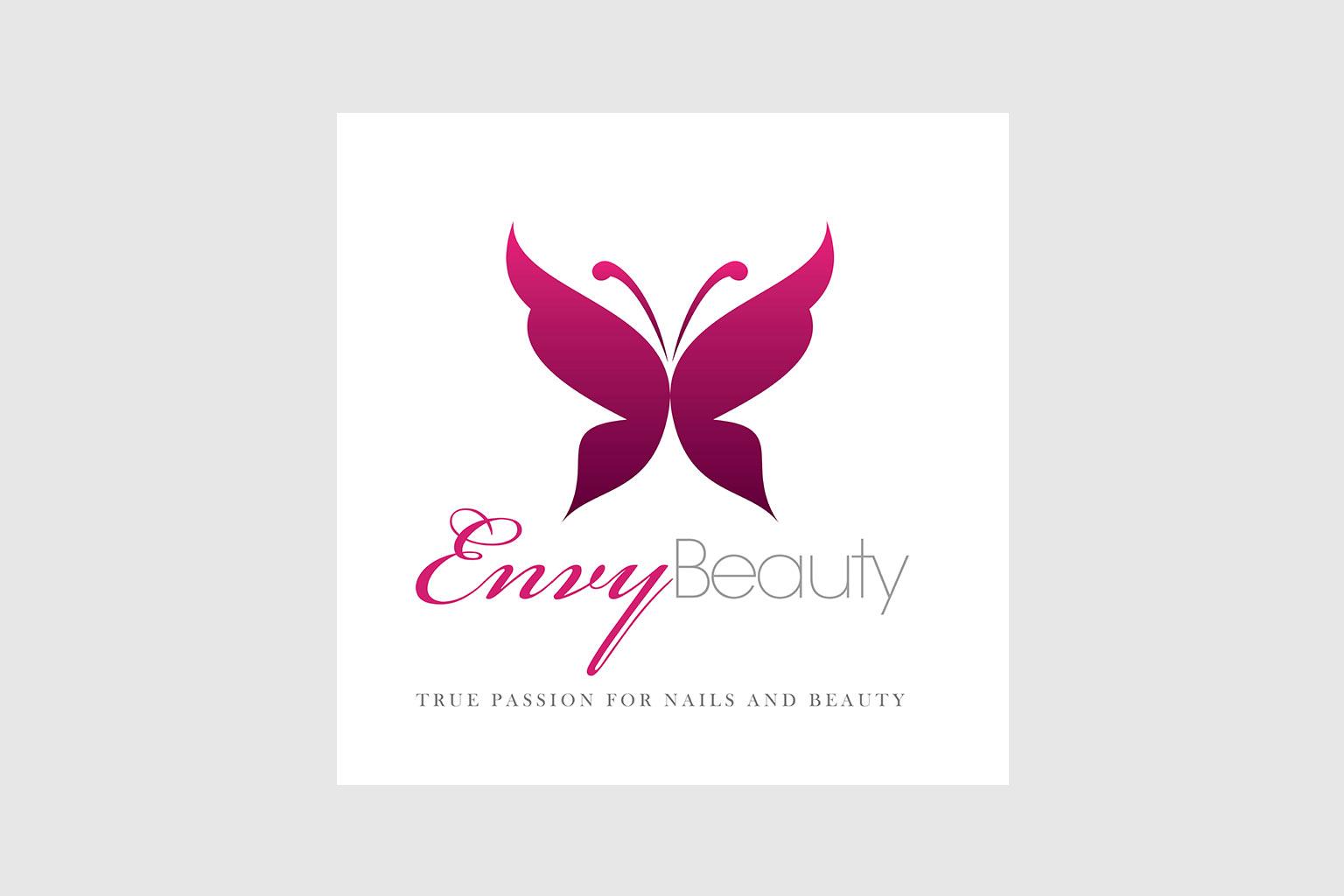 envy beauty logo design