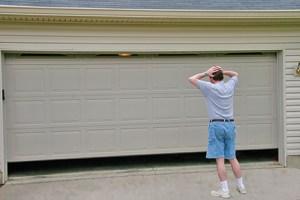 Jammed garage door