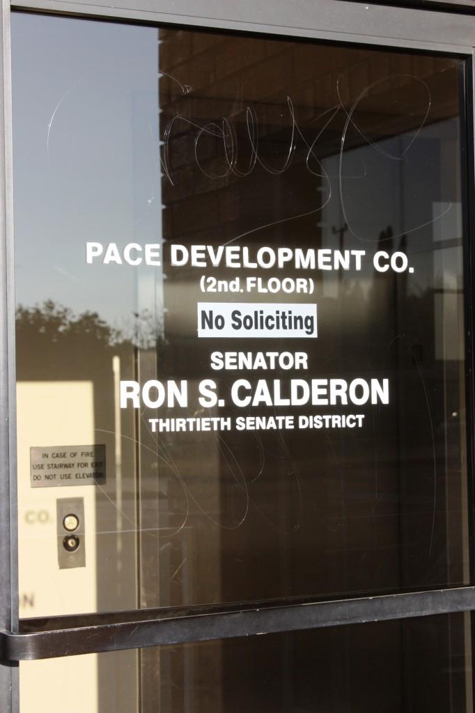 The Montebello offices of California State Senator Ronald Calderon in Montebello. Randy Economy Photo