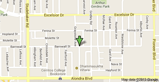 Approximate location of barricaded suspect in Norwalk on Longworth Avenue.