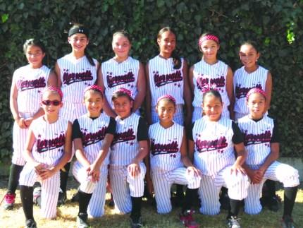 Members of the Norwalk Girls All-Stars 10U Team