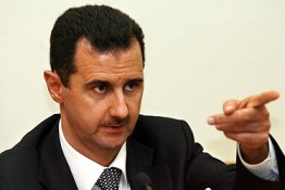 Syria's Assad. Photo via the internet.
