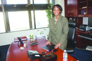 Los Angeles County District Attorney Jackie Lacey talks exclusively with Hews Media Group-Community Newspaper about her first year in office.  Randy Economy Photo