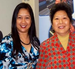 Incumbents Lynda Johnson and Olympia Chen.