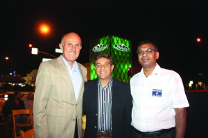 Los Angeles County Sheriff Lee Baca celebrates Diwali in Artesia with newly elected Councilman Ali S. Taj and LA County Sheriff's Advisory Committee Member Jagan Yelisetti. Randy Economy Photo
