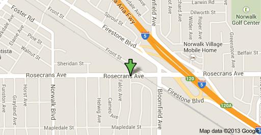 Shooting location was at the 12500 block of Rosecrans Avenue in Norwalk.
