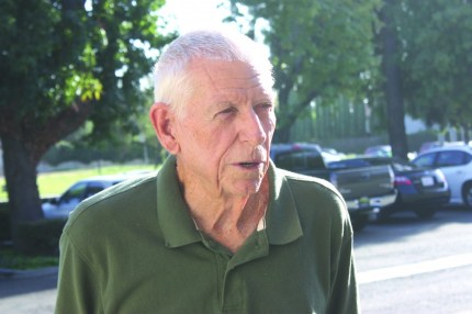 Coach Neil Freeman, still going strong at age 85.  Randy Economy Photo