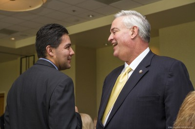 New Downey Mayor Fernando Vasquez and outgoing Mayor Mario Guerra.  Downey Beat Photo