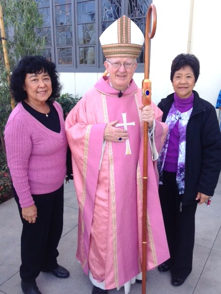 Bishop Vann Is Welcomed at St. Irenaeus Church