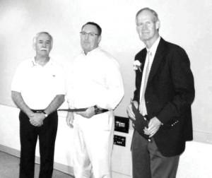 Tom Thornton, Past President of La Mirada Kiwanis; David Constantine, Past Vice- President of  Nighttime Kiwanis;, and  Dr. Michael Winter, current  President of La Mirada Kiwanis Club.