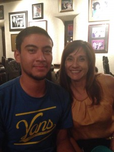 Andy with his mother Carmen. Image courtesy of Facebook