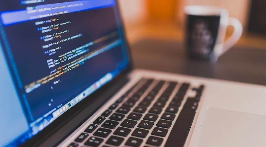Website Development on Laptop