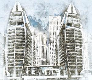 architecture, skyscraper, dubai