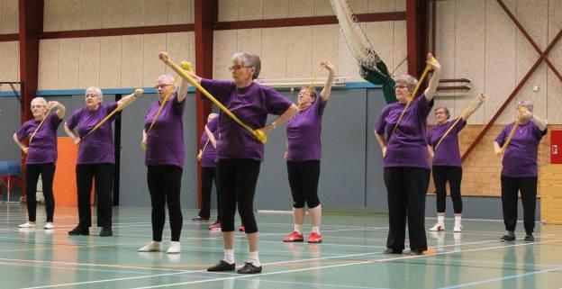 Motionsdamerne i aktion