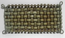 oblong woven tray
