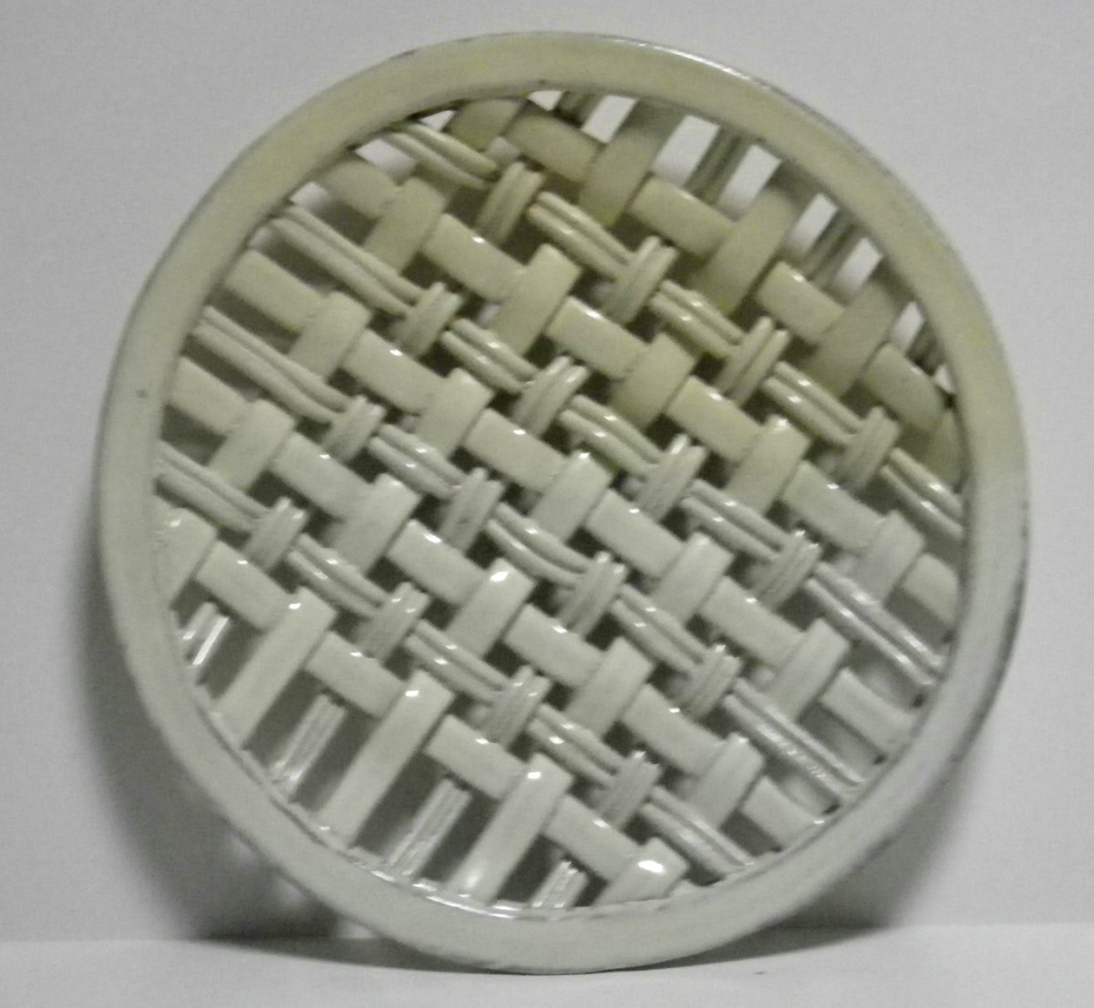 yellow soda-fired plain weave platter