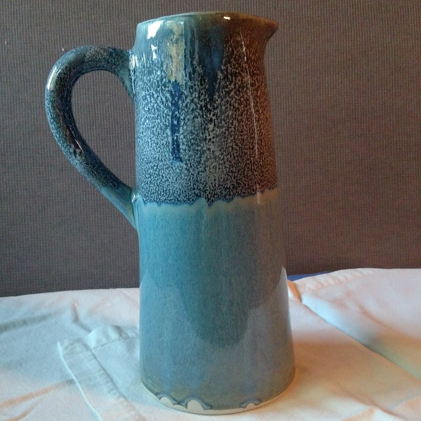 tall blue and dark blue pitcher, unavailable