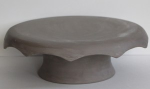 leather hard cake stand