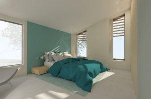 interieurontwerp-slaapkamer-ramen-blauw-natuurlijke materialen