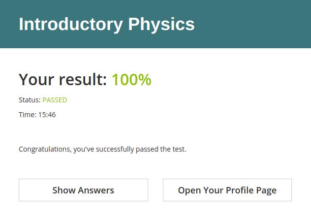 Final score after the online test in HmmQuiz