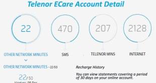 Telenor ECare Account Check Telenor Call History