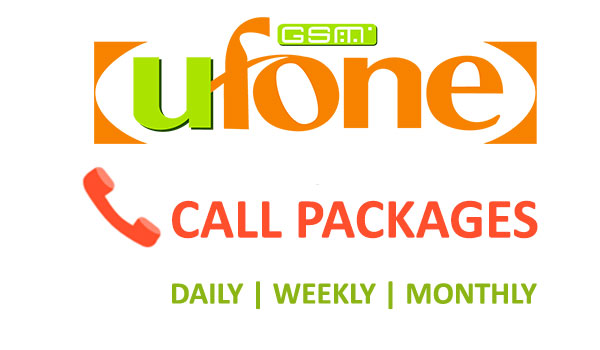 Ufone Call Packages Daily, Weekly, Monthly
