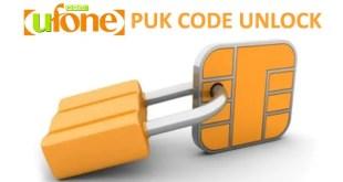Ufone SIM PUK Code Unlock