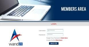 Warid Member Area - Check Warid SIM Call History