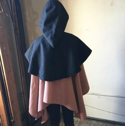 small open front cape back