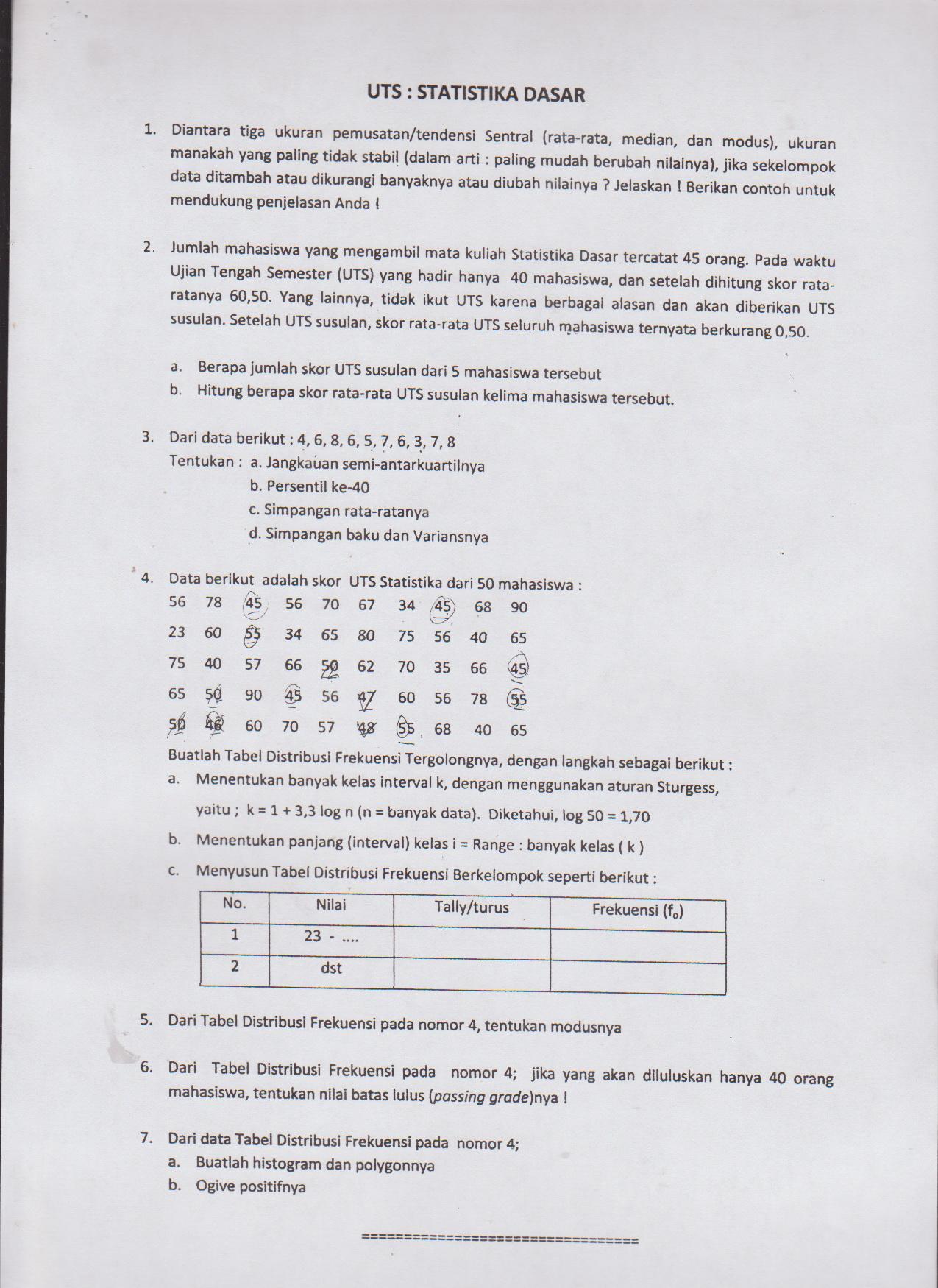 75 67 71 65 90 80 83 71 64. Kumpulan Soal Ujian Tengah Semester Hmpf Fkip Untan