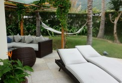 Outdoor seating and hammock