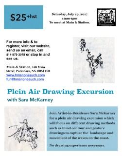 Plein Air_Drawing_McKarney_poster