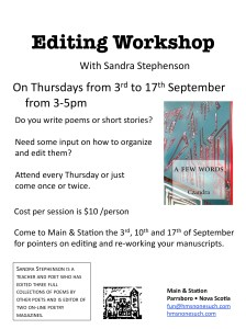 editing workshop