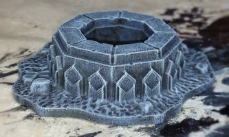 A well from the Mines of Moria set from Games Workshop.
