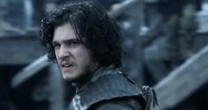 Jon Snow scowling because he's a bastard