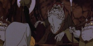 The design for orcs in the Hobbit cartoon