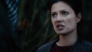 Natassia Malthe slurs her lines as Manhattan the Medieval healer.