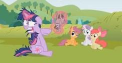 Twilight Sparkle spirals into madness in Lesson Zero.