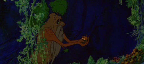The ridiculous character design for Treebeard in the Bakshi cartoon