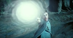 Harry Potter casts his first true patronus charm.