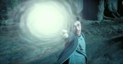 Harry Potter casts his first true patronus charm.