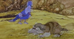 The cartoon orcs in the Rankin/Bass version turn into forest creatures.