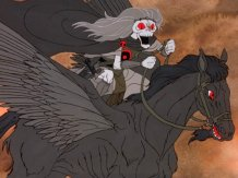The Ringwraiths ride pegasi in the Rankin/Bass version.